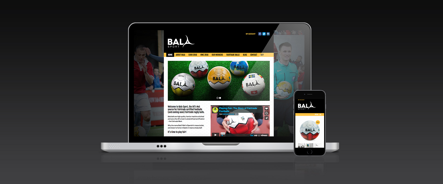 Bala Sport Fairtrade Balls designed in Glasgow by reflexblue