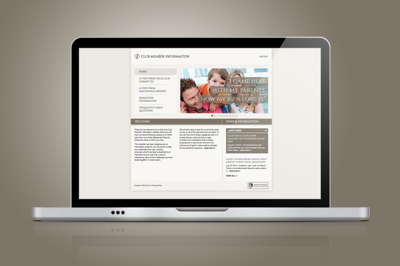 Macdonald resorts Website 1350x900