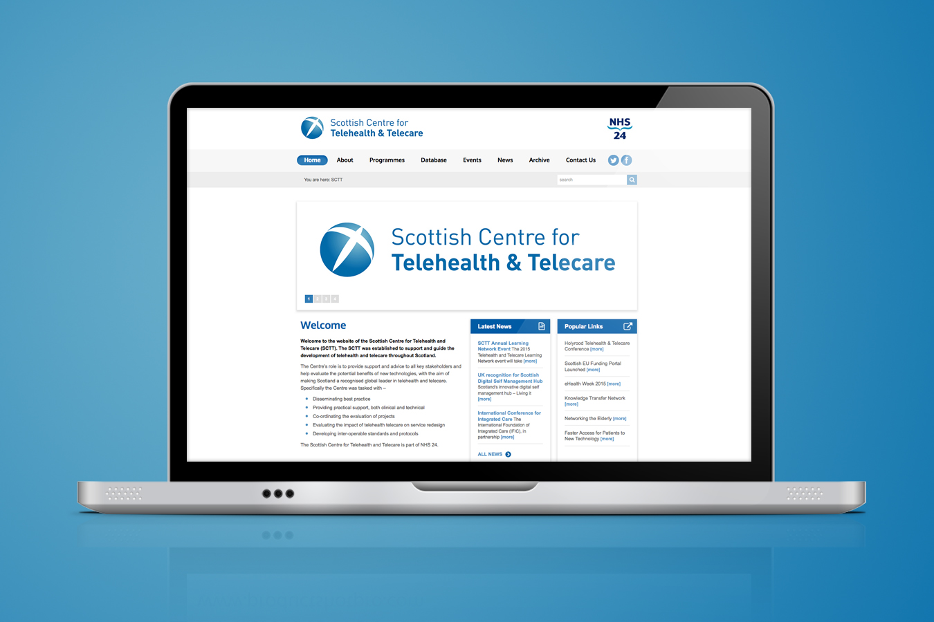 NHS24 SCTT Website 1350x900