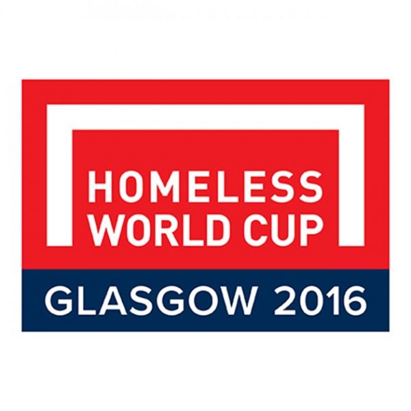 Homeless World Cup Glasgow 2016 logo