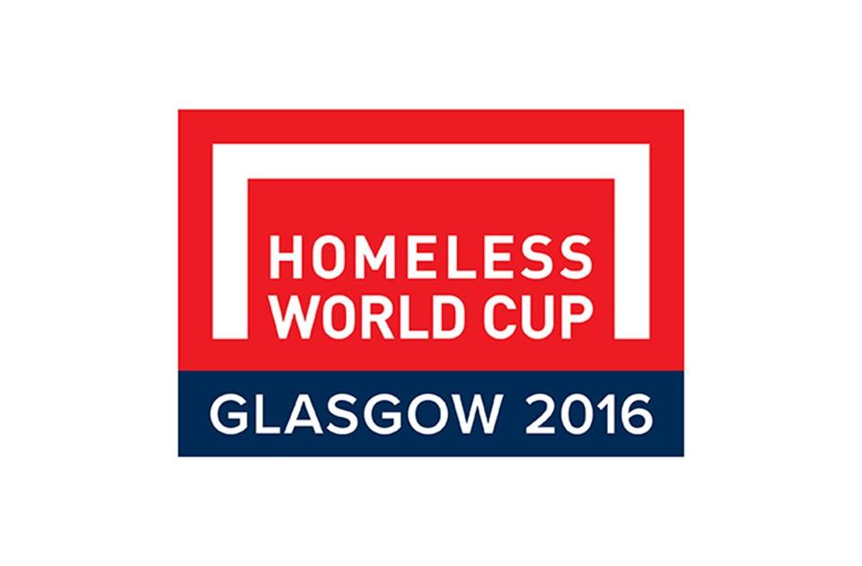 Homeless World Cup Glasgow 2016 logo